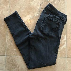 Hollister Low-Rise Super Skinny Jeans Black